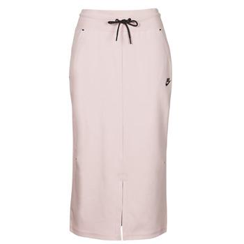 Vêtements Femme Jupes Nike NSTCH FLC SKIRT Beige / Noir