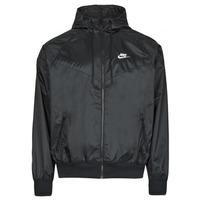 Vêtements Homme Coupes vent Nike NSSPE WVN LND WR HD JKT Noir / Blanc