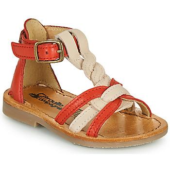 Chaussures Fille Sandales et Nu-pieds Citrouille et Compagnie GITANOLO Corail / rose
