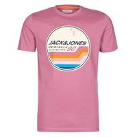 Vêtements Homme T-shirts manches courtes Jack & Jones JORTYLER Rose