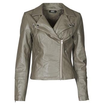 Vêtements Femme Vestes en cuir / synthétiques Only ONLGEMMA Gris
