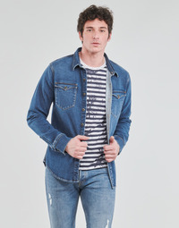 Vêtements Homme Chemises manches longues Yurban OPUCI Bleu medium