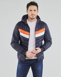 Vêtements Homme Doudounes Schott ALASKA Marine / Orange