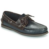 Chaussures Homme Chaussures bateau Pellet VENDEE Bleu / Marron