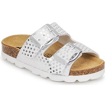 Chaussures Fille Mules Citrouille et Compagnie MISTINGUETTE Blanc étoile