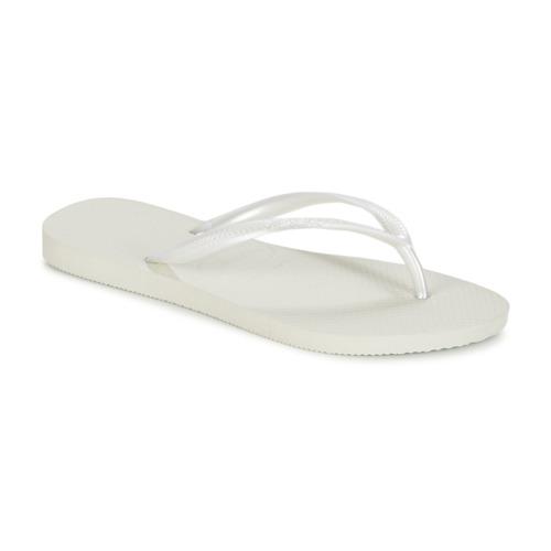 Chaussures Femme Tongs Havaianas SLIM Blanc