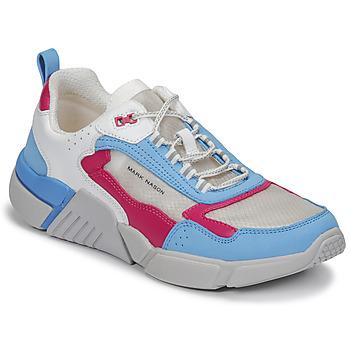 Chaussures Femme Baskets basses Skechers BLOCK/WEST Blanc / Bleu / Rose