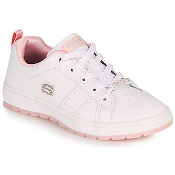 Chaussures Enfant Baskets basses Skechers STREET CLEAT 2.0/STEP 'N STYLE Blanc / Rose