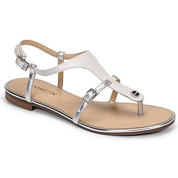Chaussures Femme Sandales et Nu-pieds JB Martin GAELIA Blanc/argent