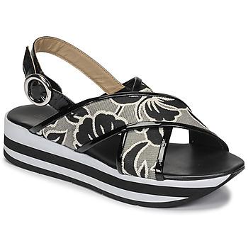 Chaussures Femme Sandales et Nu-pieds JB Martin ILANG Noir