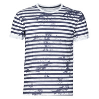 Vêtements Homme T-shirts manches courtes Yurban OLORD Marine / Blanc