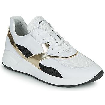 Chaussures Femme Baskets basses NeroGiardini FILOMENE Blanc / Noir / Doré