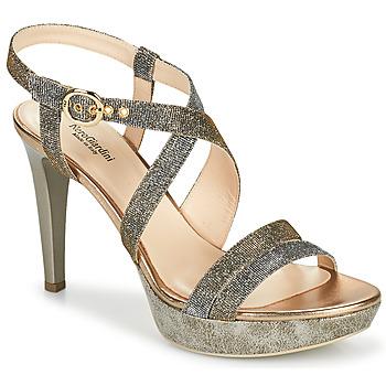 Chaussures Femme Sandales et Nu-pieds NeroGiardini KARKI Gris / Doré