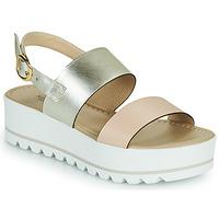 Chaussures Femme Sandales et Nu-pieds NeroGiardini SABRI Blanc / Doré