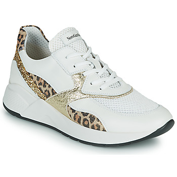 Chaussures Femme Baskets basses NeroGiardini FIDEL Blanc / Leopard
