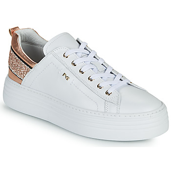 Chaussures Femme Baskets basses NeroGiardini GATTO Blanc / Rose Gold
