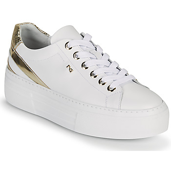 Chaussures Femme Baskets basses NeroGiardini LAITO Blanc / Doré