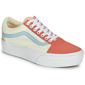 Chaussures Femme Baskets basses Vans OLD SKOOL PLATFORM Blanc / Rose