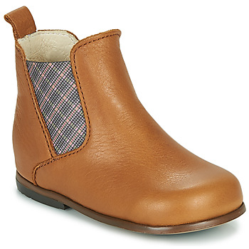 Chaussures Fille Boots Little Mary ARON Marron