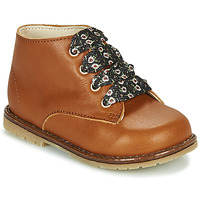 Chaussures Fille Baskets montantes Little Mary JUDITE Marron