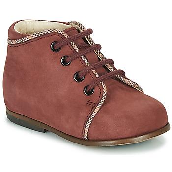 Chaussures Fille Baskets montantes Little Mary MEGGIE Bordeaux