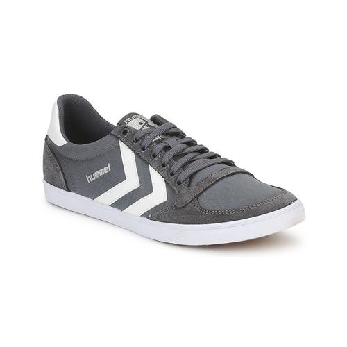 Chaussures Baskets basses Hummel TEN STAR LOW CANVAS Gris / Blanc