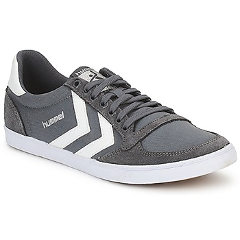 Hummel TEN STAR LOW CANVAS Gris / Blanc