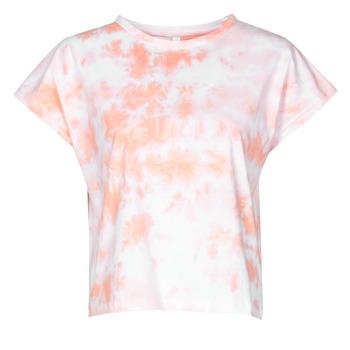 Vêtements Femme T-shirts manches courtes Yurban ONILA Blanc / Rose