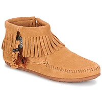 Chaussures Femme Boots Minnetonka CONCHO FEATHER SIDE ZIP BOOT Camel
