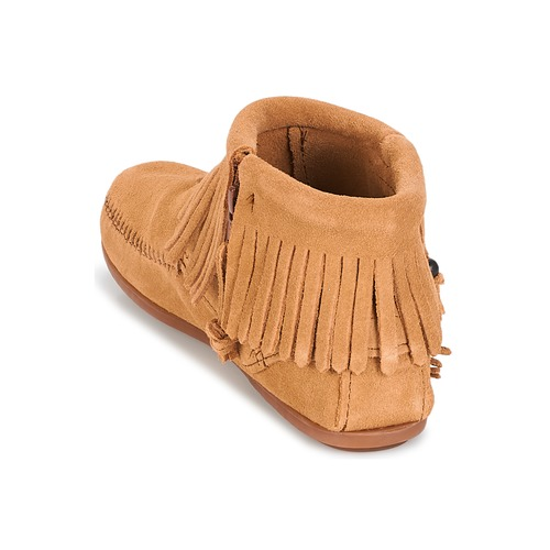 Boot Zip Concho Feather Side Minnetonka Camel rexoCWdB