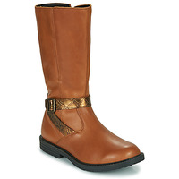 Chaussures Fille Bottes ville GBB OKINDI Marron