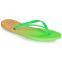 Chaussures Femme Tongs Havaianas SLIM GRADIENT Blanc / Vert