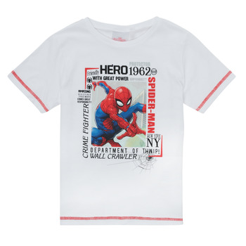 Vêtements Garçon T-shirts manches courtes TEAM HEROES  SPIDERMAN TEE Blanc