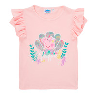 Vêtements Fille T-shirts manches courtes TEAM HEROES  PEPPA PIG TEE Rose