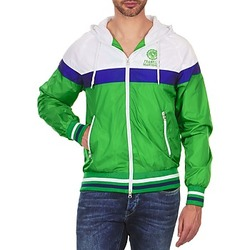 Vêtements Homme Blousons Franklin & Marshall MELBOURNE Vert / blanc / bleu