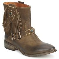 Chaussures Femme Boots Strategia GRINO Kaki