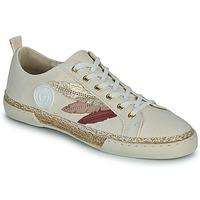 Chaussures Femme Baskets montantes Pataugas LILA F2G Beige / Doré / Rose