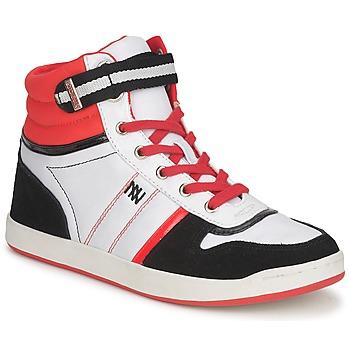 Basket montante Dorotennis STREET LACETS Rouge / Blanc / Noir