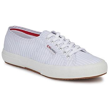 Chaussures Baskets basses Superga 2750 COTUSHIRT Blanc / Bleu