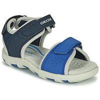 Chaussures Garçon Sandales et Nu-pieds Geox SANDAL PIANETA Bleu