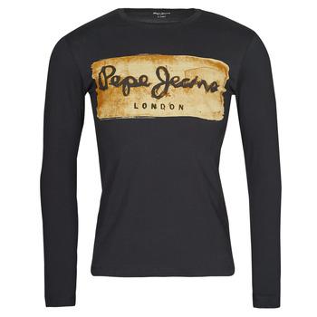 Vêtements Homme T-shirts manches longues Pepe jeans CHARING LS Noir