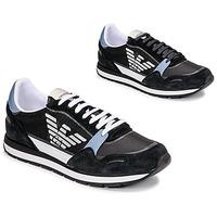 Chaussures Homme Baskets basses Emporio Armani ANIMA Noir / Bleu / Bordeau