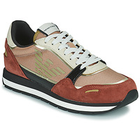 Chaussures Femme Baskets basses Emporio Armani FROLIN Rose / Blanc