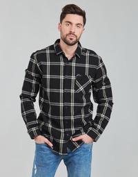 Vêtements Homme Chemises manches longues Rip Curl CHECKED OUT L/S FLANNEL Noir