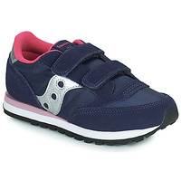 Chaussures Fille Baskets basses Saucony JAZZ DOUBLE HL Marine / Rose