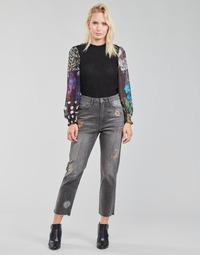 Vêtements Femme Jeans droit Desigual LAGUN Gris
