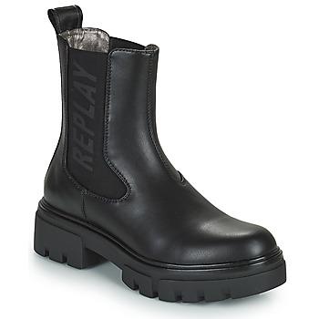 Chaussures Femme Boots Replay HANNA WESTCROFT Noir