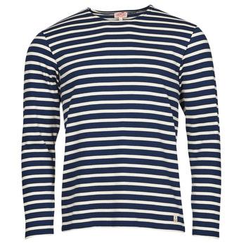 Vêtements Homme T-shirts manches longues Armor Lux MARINIERES RUSTIQUE BIO GA1 Bleu