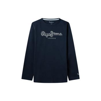 Vêtements Garçon T-shirts manches longues Pepe jeans ALDO Marine