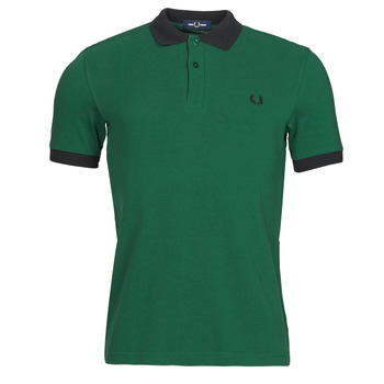 Vêtements Homme Polos manches courtes Fred Perry CONTRAST TRIM POLO SHIRT Vert